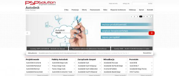 Strona główna - menu nawigacyjne, slider , katalog produktów