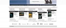 Strona główna – katalog produktów, po kliknięciu w nazwę produktu następuje rozwinięcie zakładki. Każdy produkt posiada miniaturkę, opis oraz odnośnik do szczegółowego opisu.