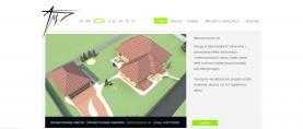 Strona główna – menu nawigacyjne, animacja przedstawiająca usługi oferowane przez firmę, po prawej widzimy skrótowy opis wraz z linkiem do pełnej oferty. Animacja składa się z czterech slajdów, które są przełączane czasowo lub za pomocą nawigacji znajdującej się pod zdjęciem.