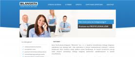 Strona główna – menu nawigacyjne, baner + slogan.