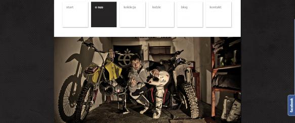 Strona główna - menu nawigacyjne, rotator banerów