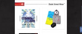 Strona główna - boksy reklamowe, po lewej slider do przewijania plakatów, po prawej wybrany projekt, będący linkiem do katalogu produktów